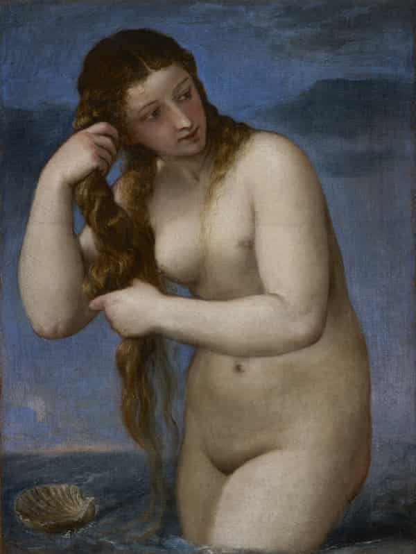 Venus Rising from the Sea by Titian, circa 1520.