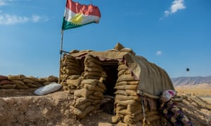 A frontline outpost in Sinjar in October.
