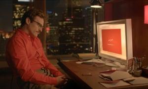 Joaquin Phoenix in Spike Jonze's Her.
