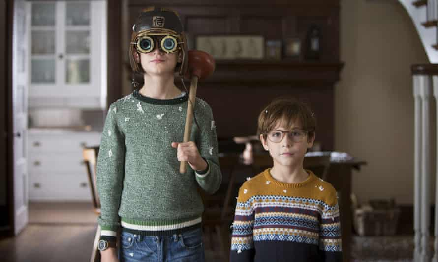 Veers from emotional manipulation to sugary cuteness … Jaeden Lieberher, left, and Jacob Tremblay in The Book of Henry.