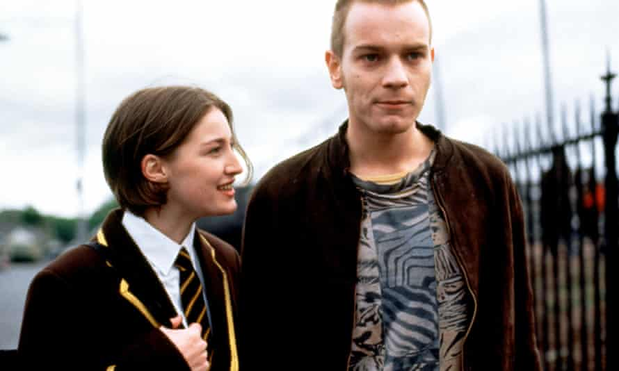 Kelly Macdonald with Ewan McGregor in Trainspotting.