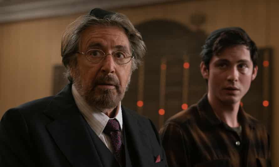 Al Pacino and Logan Lerman in Hunters.