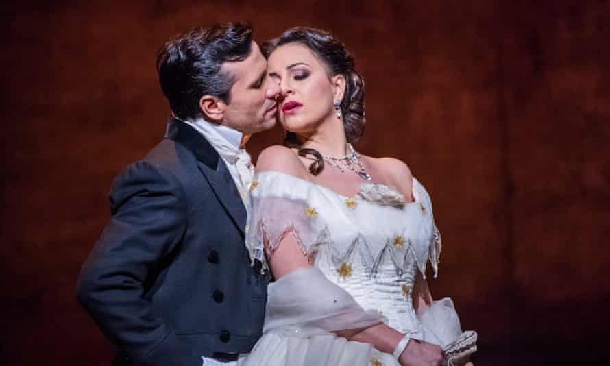 Mutual attraction from the outset … Sergey Romanovsky and Joyce El-Khoury in La Traviata.