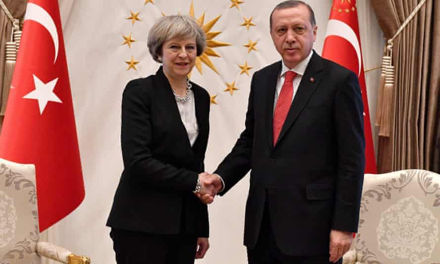 May and Erdoğan meet on the prime minister's one-day visit to Ankara