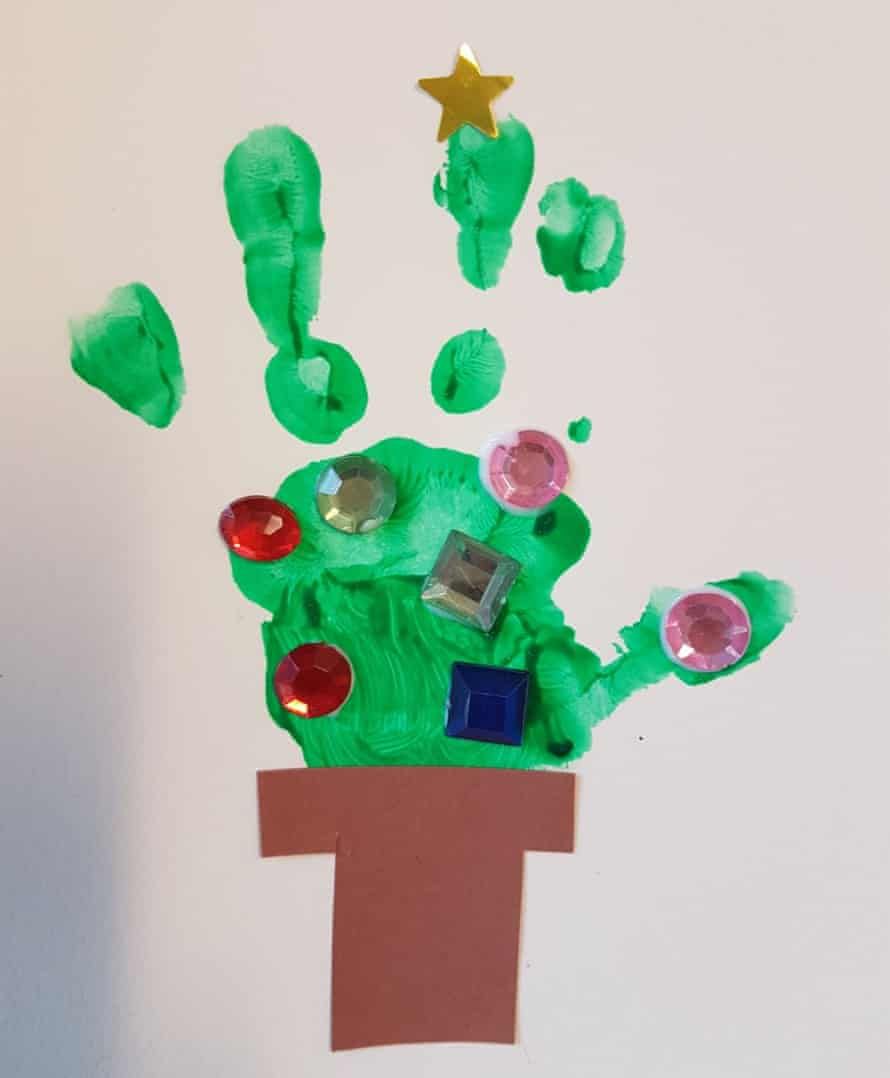 Christmas crafts are made by children in the refuge.
