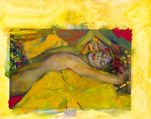 Shades of Klimt … one of Saul Leiter's Painted Nudes