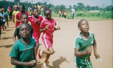 Children from Central African Republic playing in the East region of Cameroon