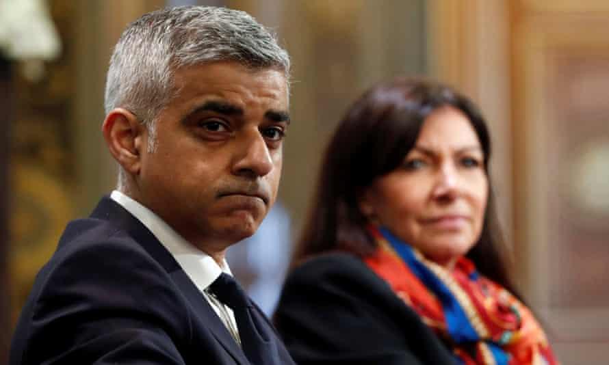 Sadiq Khan and Paris mayor Anne Hidalgo lead joint air pollution initiative.