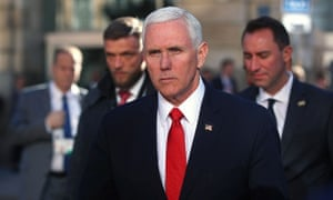 Mike Pence accused Iran of harbouring Nazi-like ambitions.