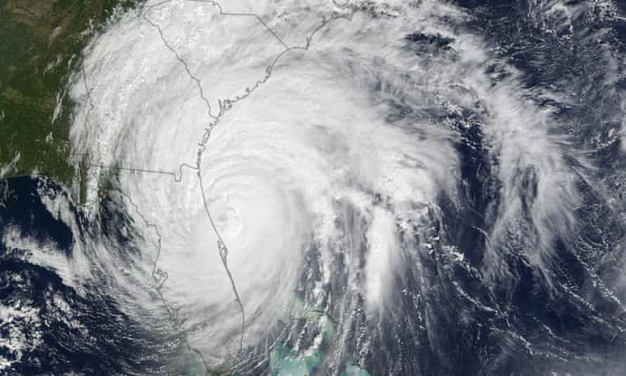 Hurricane Matthew heads to the East Coast of the USA.