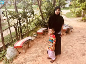 Suranya Litae and her son Afdon. At 15-years-old, she was forced to marry by her family to help pay for their family home.