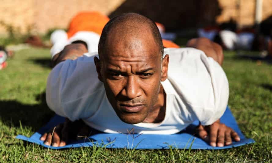 A yoga class at Pollsmoor prison.