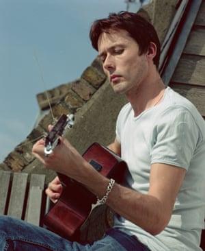 Brett Anderson at home in Notting Hill, 2002