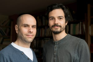 Raphael Stevens (left) and Pablo Servigne, who came up with the word 'collapsology'.