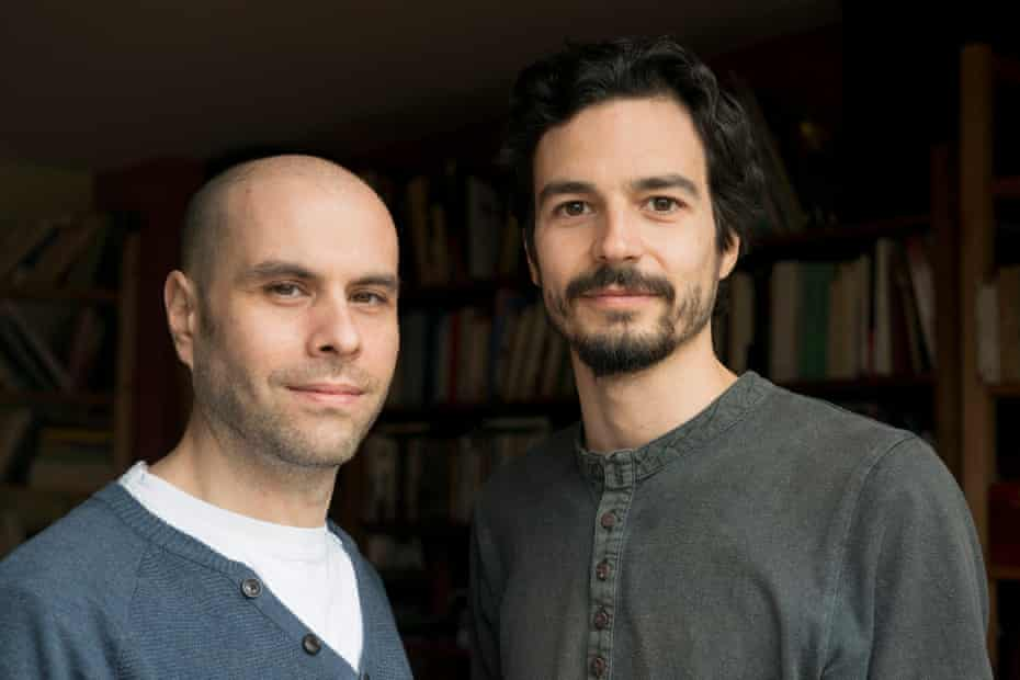 Raphaël Stevens (left) and Pablo Servigne, who came up with the word 'collapsology'.