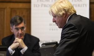 Jacob Rees-Mogg and Boris Johnson