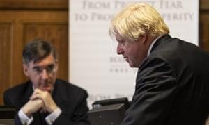 Jacob Rees-Mogg and Boris Johnson.