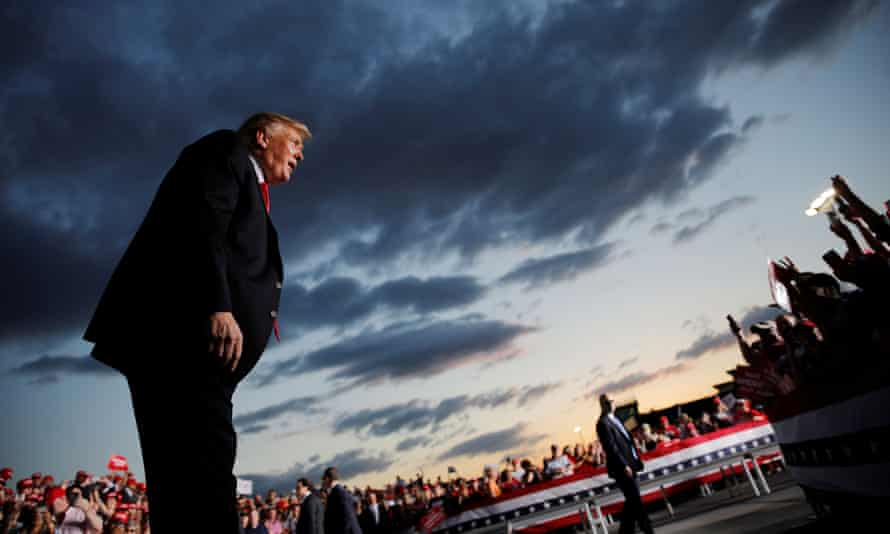 Donald Trump addresses supporters at a campaign rally in Montoursville, Pennsylvania, on 20 May.