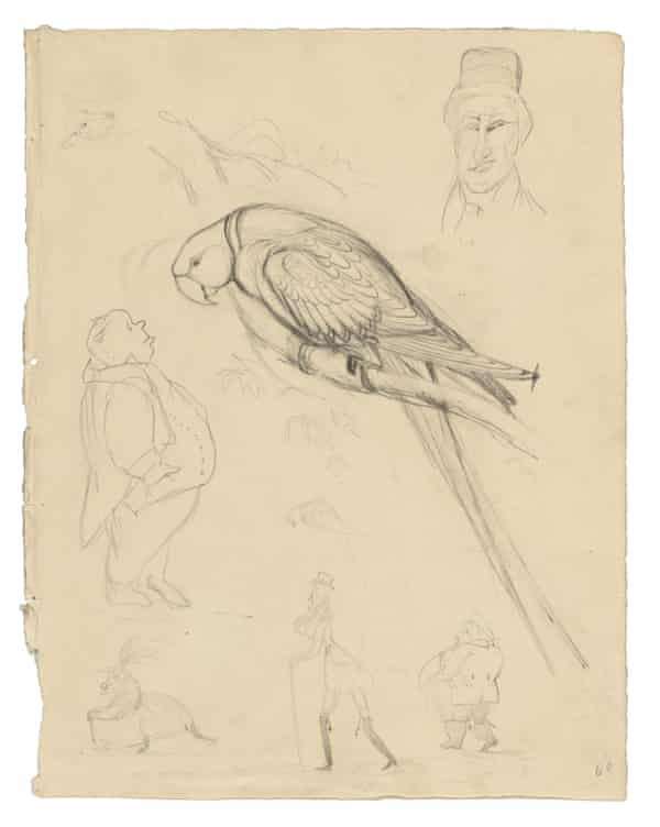 edward lear parrots and people circa 1830