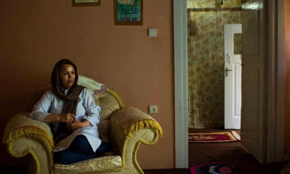 Zahra Yaganah at home in Kabul