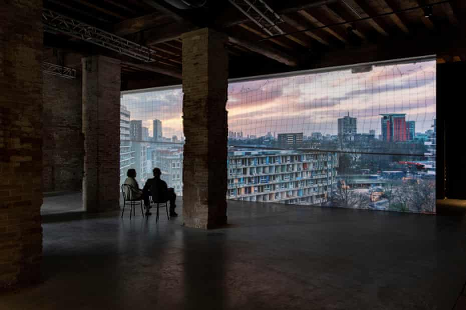 Do Ho Suh's film of Robin Hood Gardens, Woolmore Street, London, commissioned by the V&A.