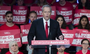 Bill Shorten addresses a 2019 Australian election volunteer rally in Burwood. The Labor leader has laughed off 'angry ranting' headlines