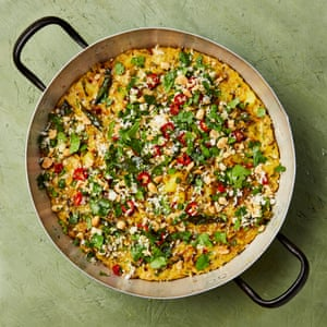Yotam Ottolenghi's poha and coconut flan