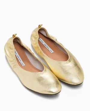 Stay chic on the goJanuary is about being efficient, which invariably means moving quickly from a to b. But keep things fun and fancy with flats in a metallic hue. & Other Stories has great ballet options, with a flattering high vamp. Ballerina flats, & Other Stories, £69.