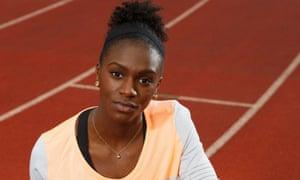 The sprinter Dina Asher-Smith