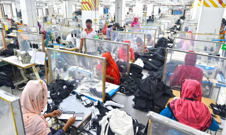 A garment factory in Dhaka, Bangladesh