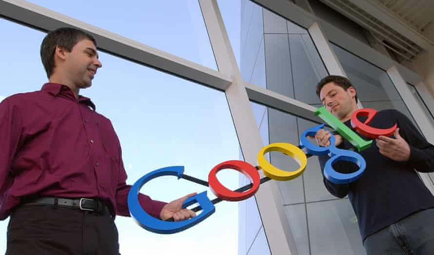 Google's co-founders, Larry Page, left, and Sergey Brin, 2004.
