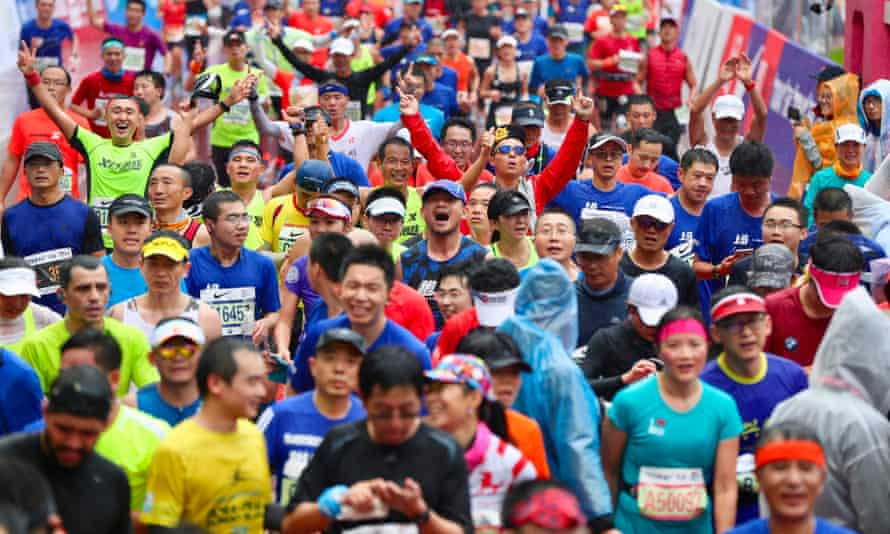 The Shanghai marathon attracted thousands of runners in November, in a sport that is seeing increased participation levels in China.