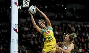 Australia's Caitlin Bassett (centre) comes into the tournament shouldering a great deal of pressure.