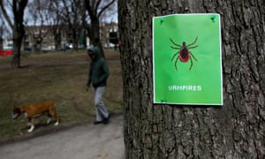 A Lyme Disease awareness poster in the Plateau of Montreal, Quebec, Canada.