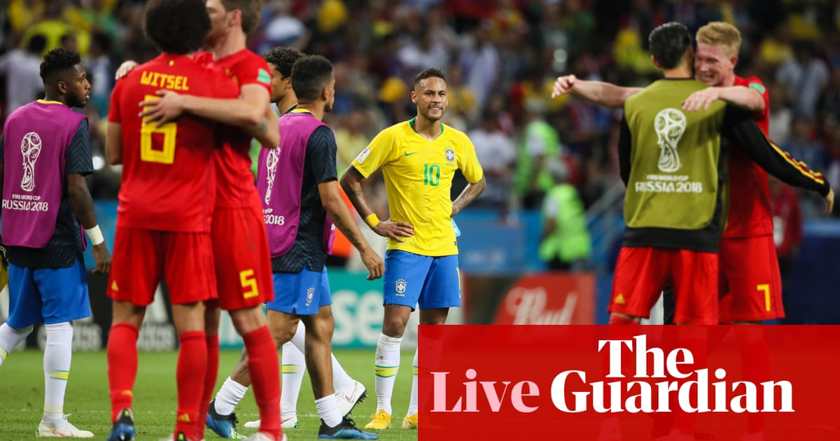 34593f6afc9 World Cup 2018 quarter-final: Brazil 1-2 Belgium – as it happened | Football  | The Guardian