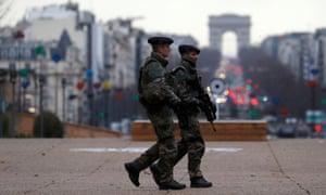 Francia estado de emergencia arc de triomphe