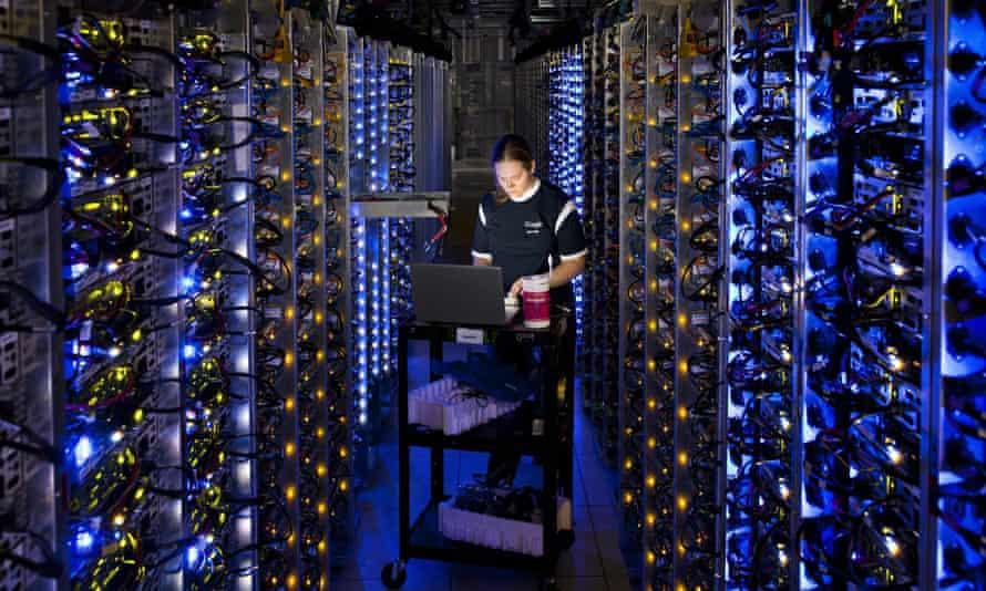 One of Google's massive data centres.