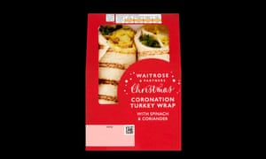 Waitrose Coronation Turkey wrap.