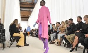 Think pink … Balenciaga SS17, Paris fashion week, October 2016