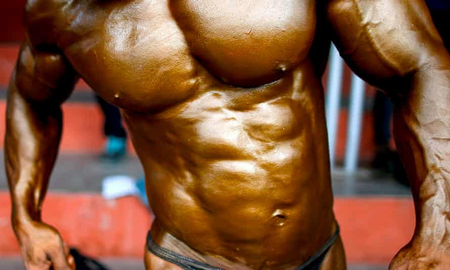 A bodybuilder's torso