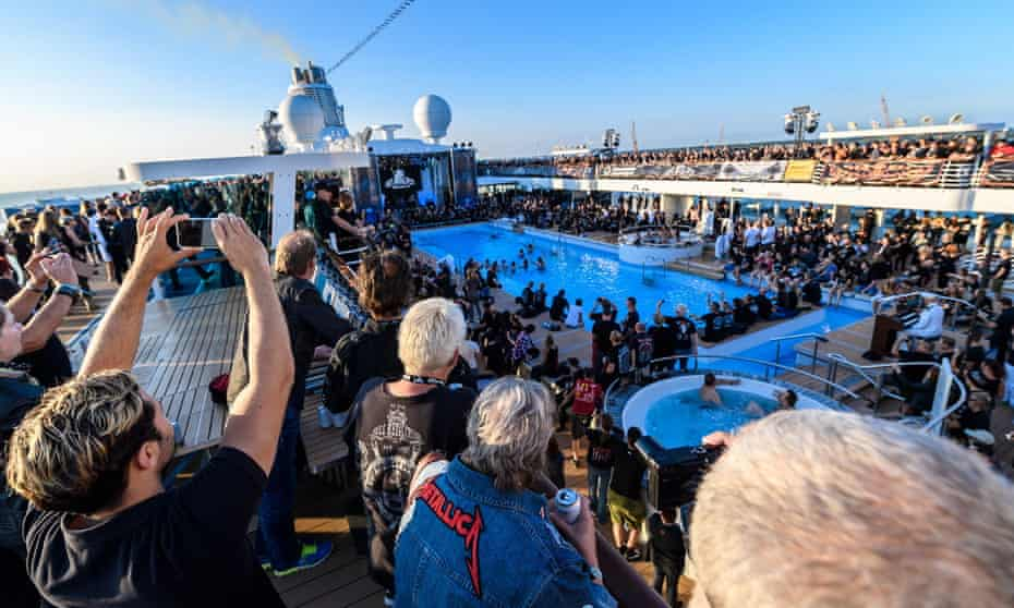 Fans on deck during the 2018 Full Metal Cruise