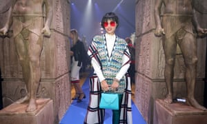 Model Fumi Nikaido at the Gucci show in Milan