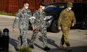 Military personnel have been called into help contain the coronavirus outbreak in Melbourne, capital of Victoria, Australia.