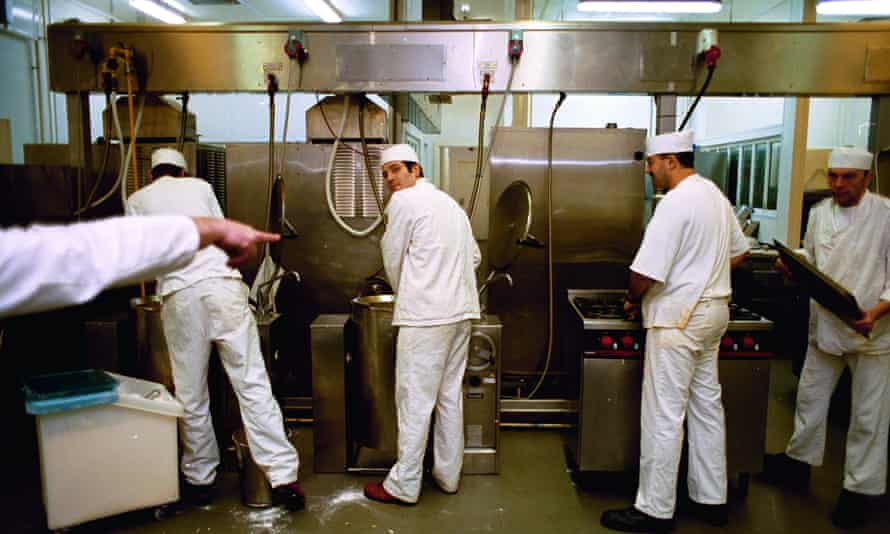 The kitchen at HMP Bedford