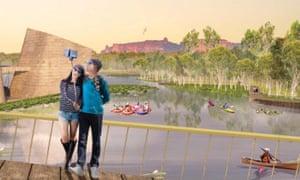 Concept art of Lake Jabiru from the masterplan