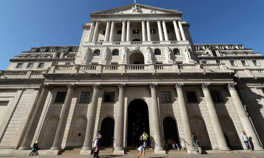 The Bank of England building in the City of London.