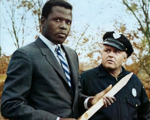 Sidney Poitier and Rod Steiger in In the Heat of the Night, 1967.