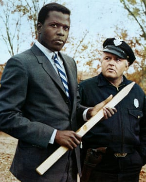 Poitier with Rod Steiger in In the Heat of the Night.