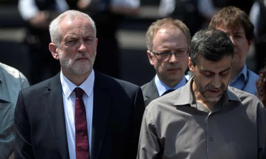 Jeremy Corbyn and Mohammed Kozbar.