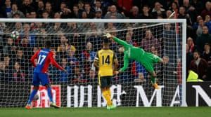 Emiliano Martinez is beaten by Cabaye's sublime shot.